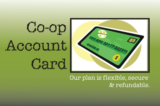 Co-op Account Card